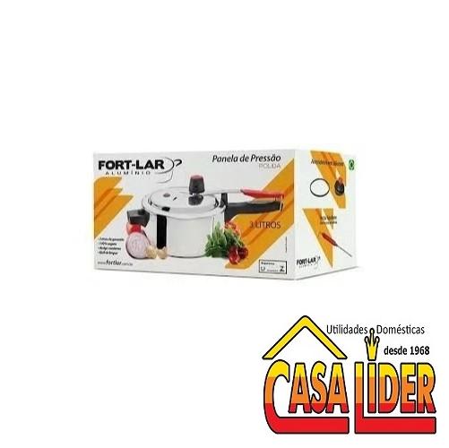 Panela de Pressão Polida 3 Litros - 9036 - Fort-Lar