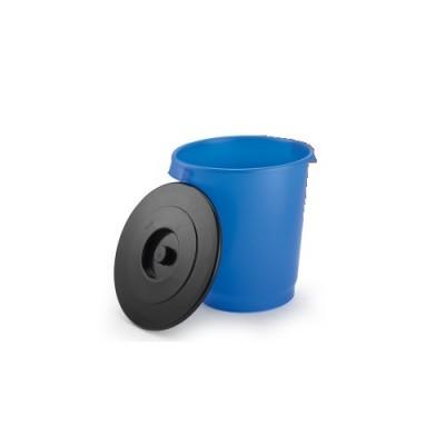Lixeria Plástica 30 Litros com Tampa Preta Premium Azul - 1002.15 - Eldorado