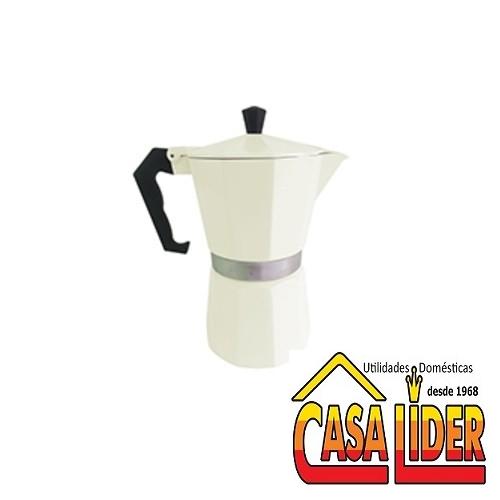 Cafeteira Italiana Alumínio para 6 Cafezinhos Branca - 5750-AF06W - Mimo Style