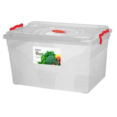 Caixa Box Mantimento Retangular com Trava 20 Litros - 476 - Niquelart