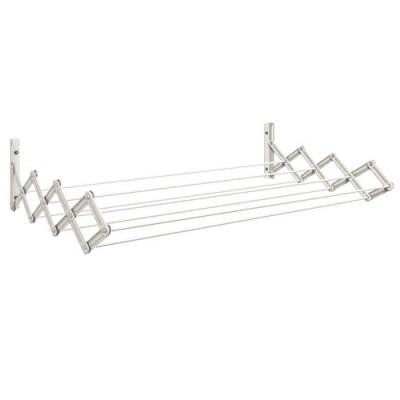 Varal Sanfonado em Aço Branco 0,60m Branco -00201010 - Secalux