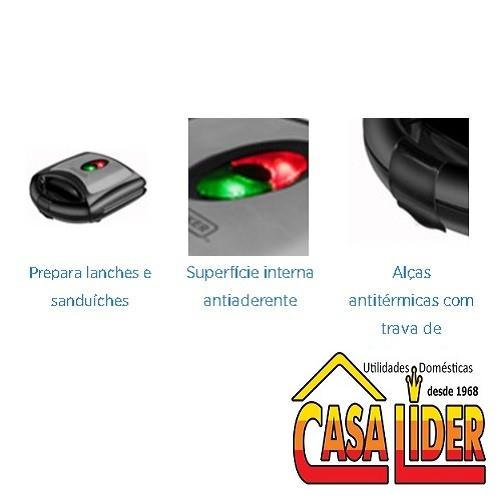 Sanduicheira Elétrica 127V 700W - HG750-BR - Black&Decker