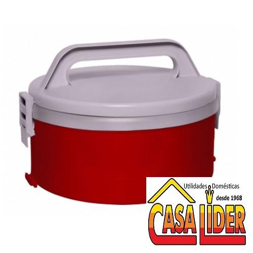 Termoprato Tekcor com Divisão Dupla 1,5 Litro Vermelho - 1289.13 - Soprano