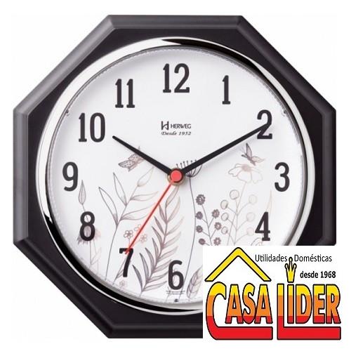 Relógio de Parede Cromado Liso Quartz - 660029-28 - Herweg
