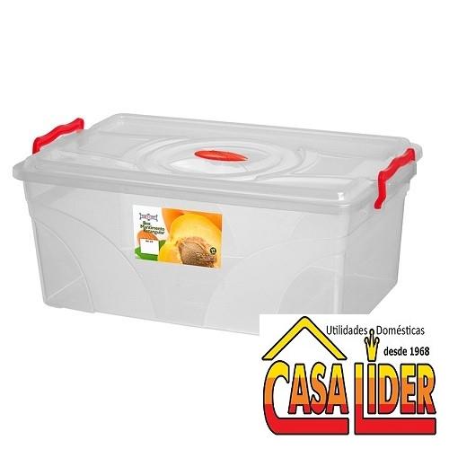 Caixa Box Retangular 17 Litros com Trava - 475 - Niqueplast