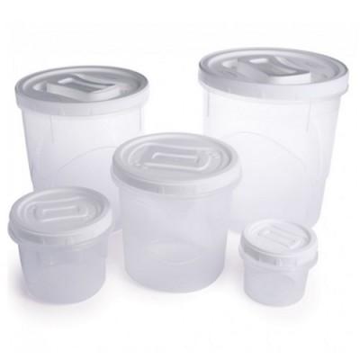 Conjunto de Potes para Mantimentos 5 peças Rosca Médio - 004972 - Plasútil