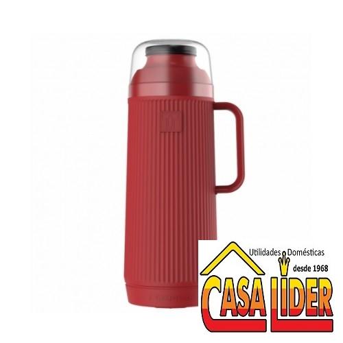 Garrafa Térmica Mundial Vermelha Rolha Clean 1 Litro - 54970 - TERMOLAR