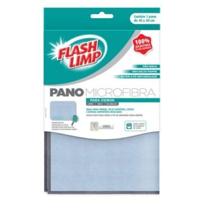 Pano Microfibra para Vidros - FLP6698 - FlashLimp