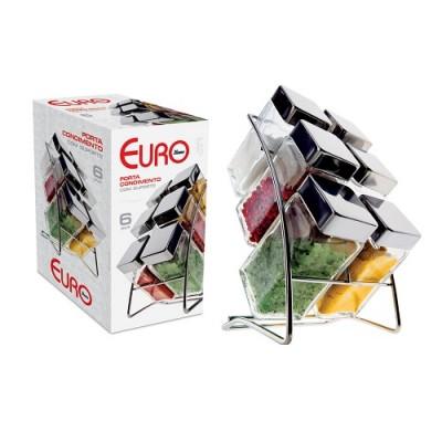 Porta-Condimentos Square 6 peças - SSG-6 - EUROBR