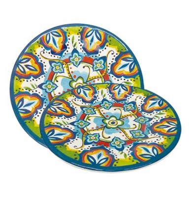 Prato de Sobremesa Linha Etnica - 5713-MS22C - Mimo Style