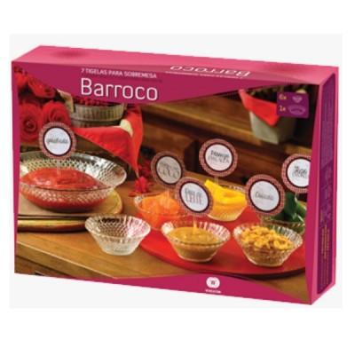 Conjunto de Tigelas para Sobremesa Barroco 7 peças - 0740 - WheatonBrasil