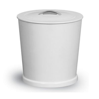 Lixeira com Pegador Cromado 6 Litros Branco - 402-4 - Niquelart