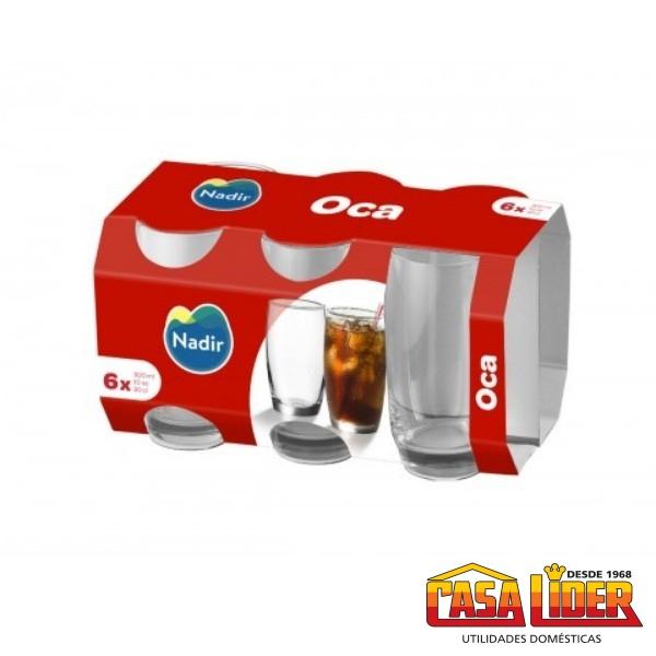 Conjunto de 6 Copos Oca Long Drink 300 ml  - 2244 - Nadir Figueiredo