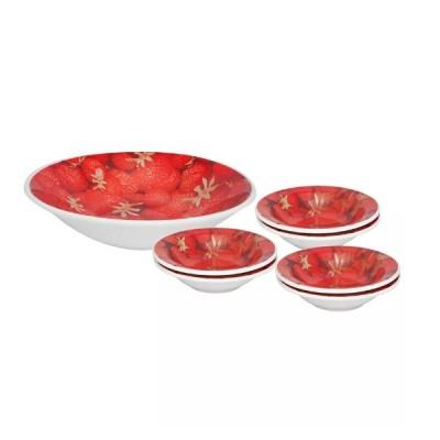 Conjunto Sobremesa 7 peças Morangos - 1561 - Biona