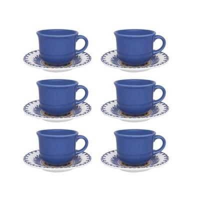 Conjunto de 06 Xícaras para Café 65 ml com Pires Carreta - J827-6788-1-0 - OXFORD