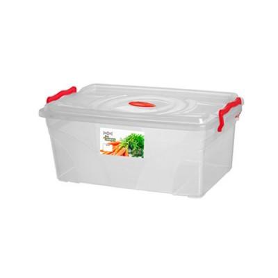 Caixa Box Mantimento Retangular com Trava 11,5 Litros - 474 - Niquelart