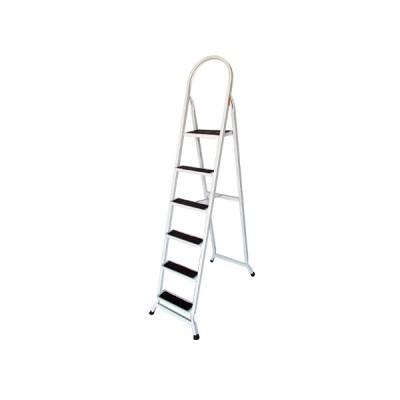 Escada Retangular 6 Degraus Branco Preto - UDM0430 - Utilaço