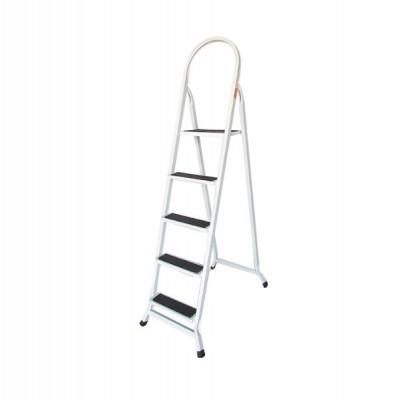 Escada Retangular 5 Degraus Branco Preto - UDM0429 - Utilaço
