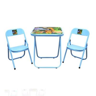 Conjunto Infantil Dobrável com 2 Cadeiras Azul Floresta - INF0003 - Utilaço