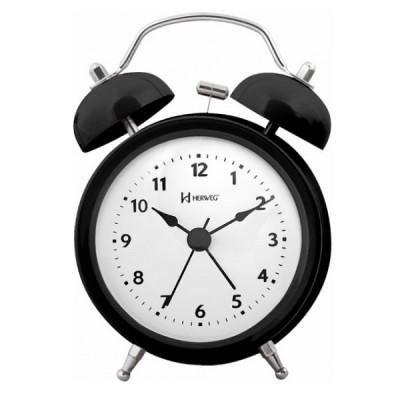 Relógio Despertador Mecânico Preto - 2707-034 - Herweg