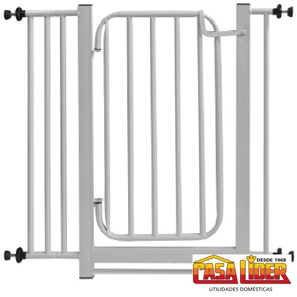 Portão Grade Utilar para Porta De 70-80.Cm cor Branca -UDM0485 - Utilaço